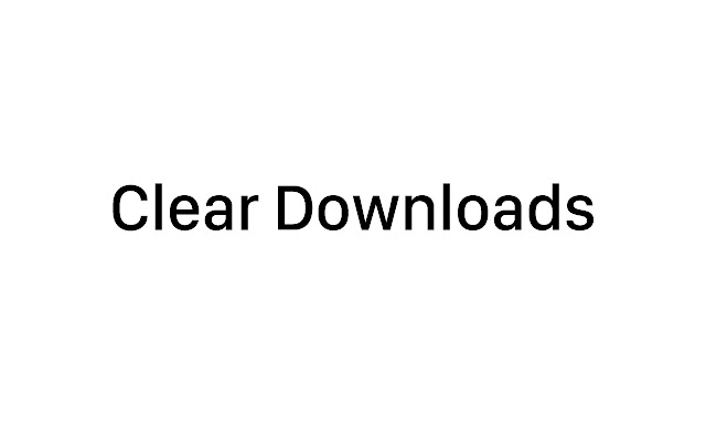 Clear Downloads