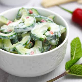 Spicy Yogurt Cucumber Salad.
