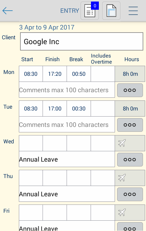 Timesheet PDF- screenshot