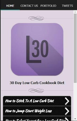 30日の低炭水化物ダイエットクックブック