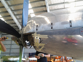 Photo: Here's a photo of a PB-3 attached to the cowling of a turboprop engine on a SA-227 Metroliner.