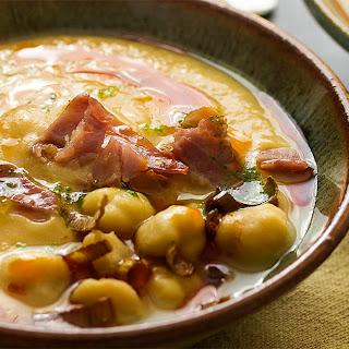 Creamy Spanish Garbanzo Bean Soup.