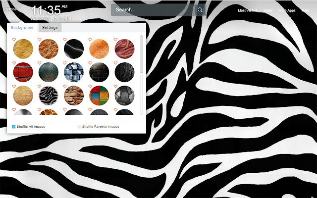 Textures Wallpapers Theme New Tab