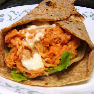 Slow Cooker Buffalo Chicken Wraps.