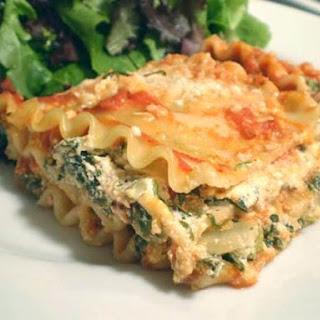 Lighter Spinach Lasagna.