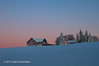 Photo: Røyken rectory in the low light of a January afternoon