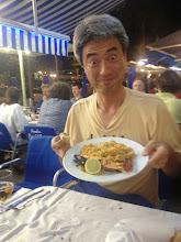 Photo: Post Summer School Dinner Paella Kakizakai at his best!