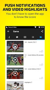 Scores & Video - soccer live- screenshot thumbnail