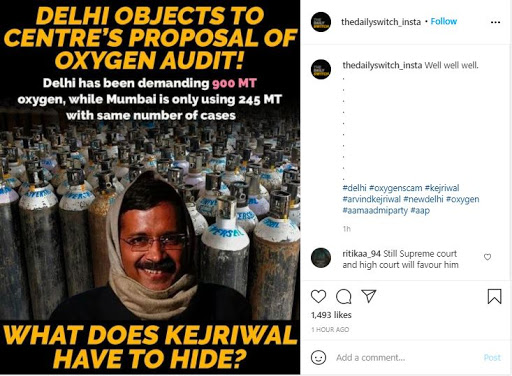 Fearing getting exposed for mismanagement, Kejriwal govt opposes audit of oxygen usage