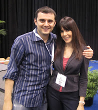 Photo: Gary Vee and Julie Spira at Book Expo America