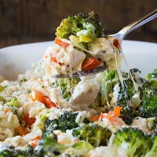 Gluten Free Broccoli Casserole with Chicken, Rice and Cheese Recipe