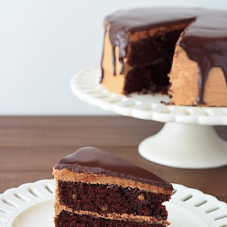 Chocolate Peanut Butter Cake with Ganache Glaze