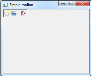 Java SWT - Toolbar
