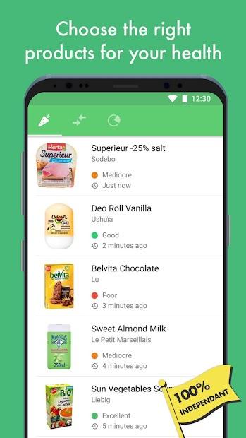 Yuka - Product scan Android App Screenshot
