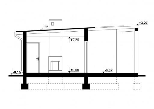 G183 - Budynek rekreacyjny - Przekrój