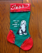 Photo: Beardies who visited Snata got a personalized Christmas stocking