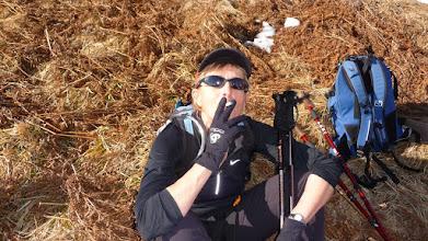 Photo: notre marathonienne fume ????