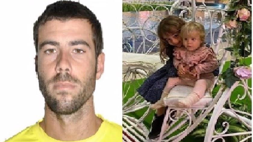 Imagen de Tomás Gimeno y de las dos menores asesinadas.