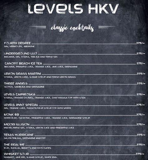 Menu 1 - Levels HKV, Hauz Khas Village, New Delhi