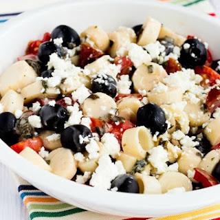 Tomato, Hearts of Palm, Olive, and Feta Salad with Basil Vinaigrette Recipe