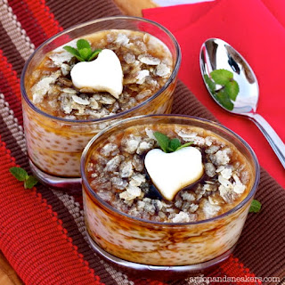 Tapioca with Rum Caramel Sauce & Almond Jelly (Guinomis)