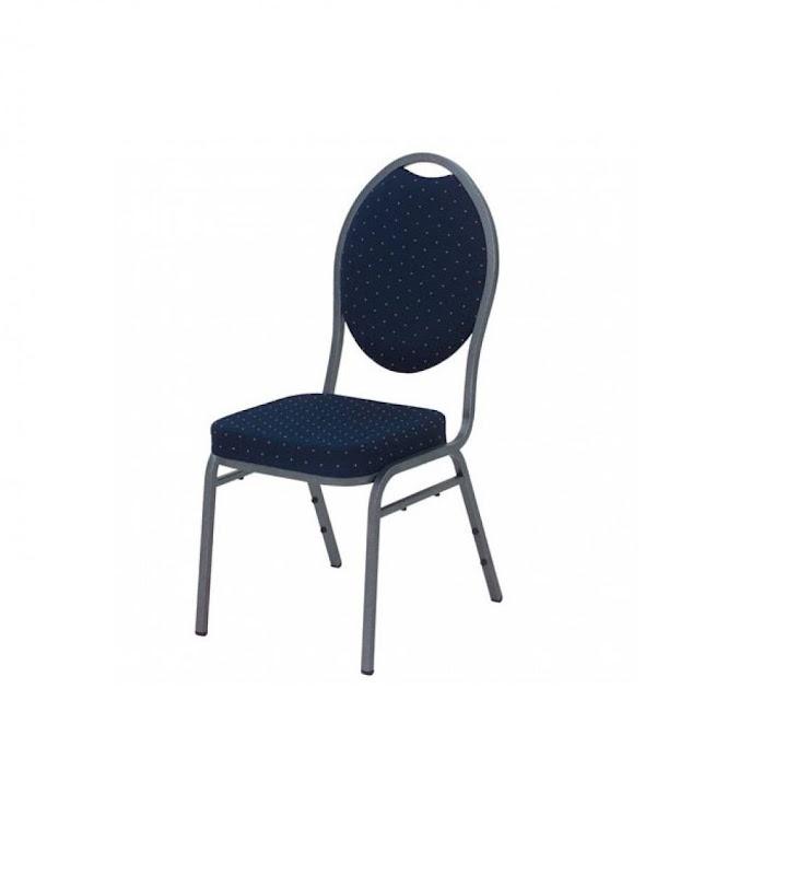 Beklede stoel huren - blauw