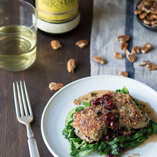 Pecan-Crusted Cod with Maple Cranberry Vinaigrette