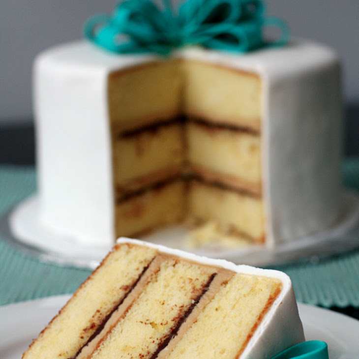 Vanilla Cake with Tiramisu Buttercream and Ganache Filling Recipe