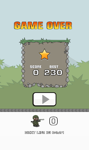 Flappy Doodle Army 2 : Mini Militia bird jump  captures d'écran 4