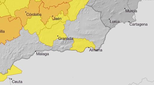 Aviso amarillo por altas temperaturas y viento fuerte en Almería
