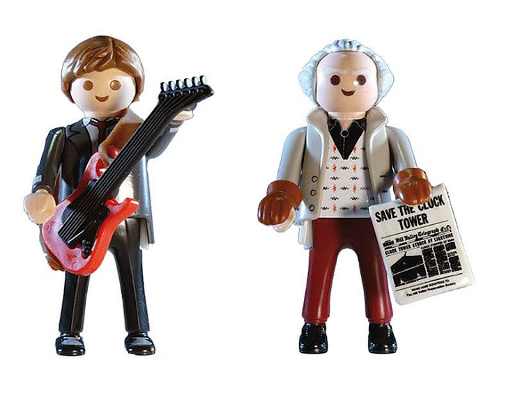 Contenido real de Playmobil® 70459 Back to the Future Marty Mcfly y Dr. Emmett Brown