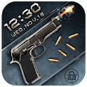 Gun&bullet lock screen icon
