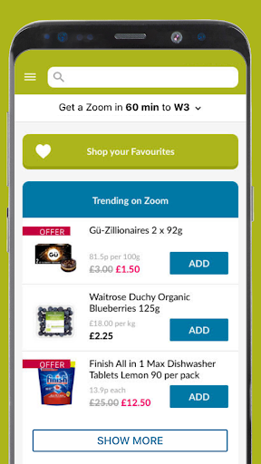 Ocado Zoom grocery delivery screenshot 5