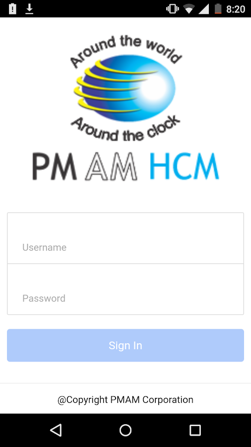 PMAM HCM- screenshot