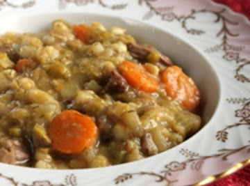 Grandma Rose's Split Pea Soup With Beef Flanken Recipe