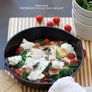 Pepperoni Italian Egg Skillet