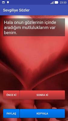 Sevgiliye Sözler - screenshot