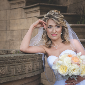 She's Ready by Michael Keel - Wedding Bride ( white wedding, russian wedding, wedding, woman portraits, bride portrait, bride, san francisco, palace of fine arts, california wedding )