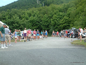 Photo: Group at the Hill Climb finish line at Mt. Ascutney State Park by Caitlin Vollmann