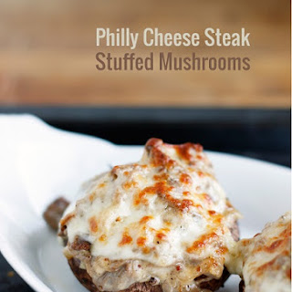 Low Carb Philly Cheese Steak Stuffed Mushrooms