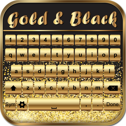 Gold and Black Keyboard Themes
