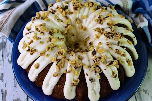 Peggy's Homemade Carrot Cake w/Cream Cheese Icing