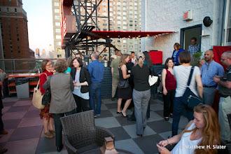 Photo: Roof deck reception