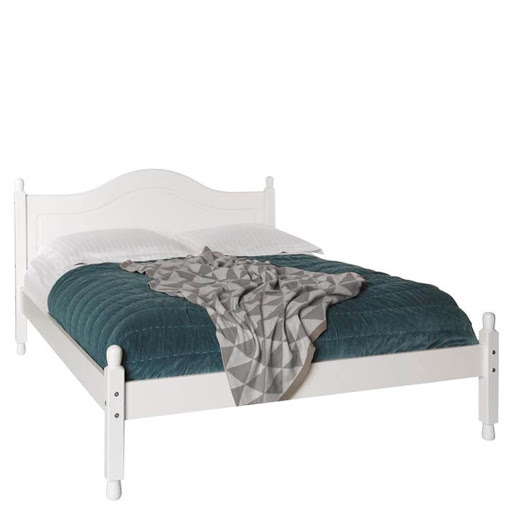 Copenhagen White Bed Frame Double