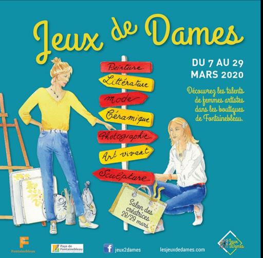 jeux de dames 2020 FONTAINEBLEAU _ AQUARELLES JEANNE PAPA _1