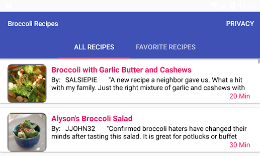Broccoli recipesfree recipe app android apps on google play broccoli recipesfree recipe app screenshot thumbnail forumfinder Images