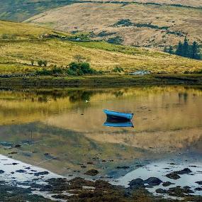 Canoe-dling by Brendan Mcmenamy - Novices Only Landscapes ( caboodle, blue, dling, canoe, boat )