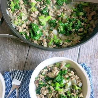 Simple Turkey and Kale Skillet.