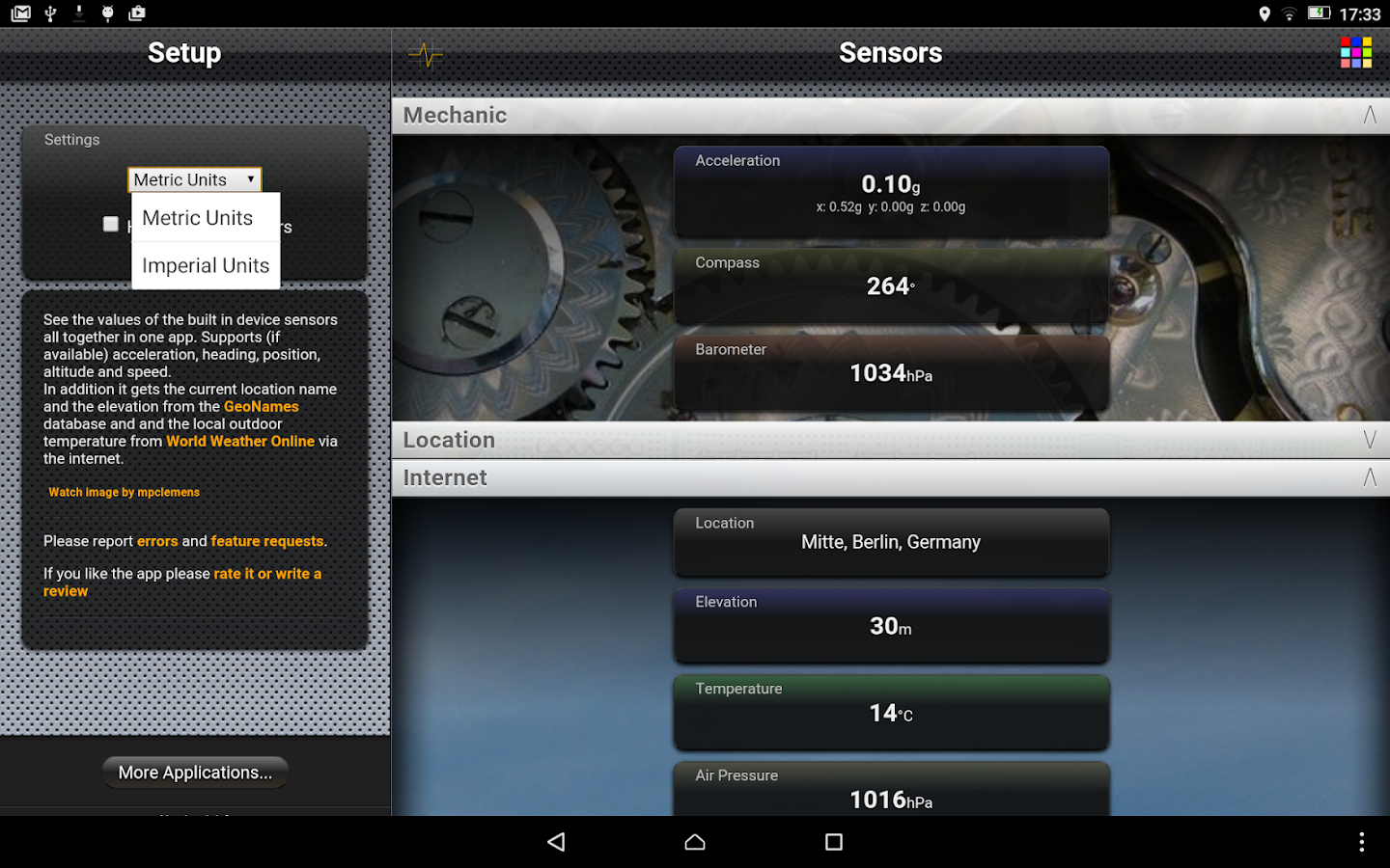 Sensors Free- screenshot