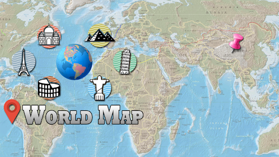 Offline World Map HD D Atlas Street View Android Apps On - Holy see map hd